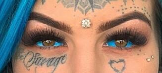 Tatoverte øynene - mistet synet!
