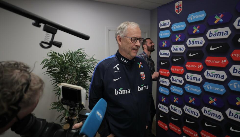 VELDIG STERKT ØNSKET: Lars Lagerbäck er fotballforbundets eneste kandidat til å lede Norge fram mot VM 2022. Han sier han er beæret. Sannsynligheten er veldig stor for at han sier ja. Foto: Ørn E. Borgen / NTB scanpix
