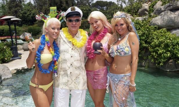VILLE TILSTANDER: Kendra Wilkinson (t.v), Holly Madison og Bridget Marquardt var fokuset i serien «Playboyjentene», som i Norge var å se på TV 3. Foto: E!, TV 3