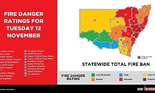 KATASTROFE-ALARM: Situasjonen er ille nå, men tirsdag har Australias brannvesen satt katastrofe-alarm i to regioner, inkludert Sydney.