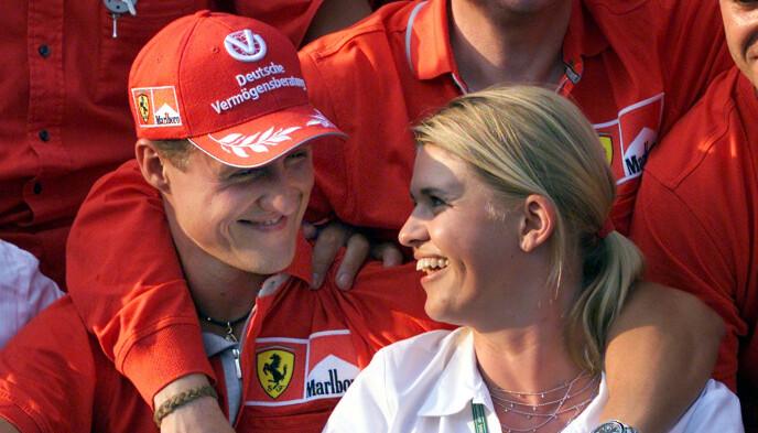Marito: Michael Schumacher e Corina Schumacher sono sposati dall'agosto 1995. Foto: AP Photo/Daniel Maurer