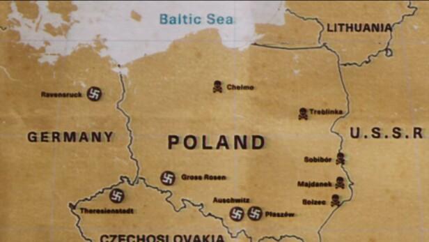 - UNØYAKTIG: Dette kartet skaper sterke reaksjoner fra den polske statsministeren Mateusz Morawiecki. Han mener det burde framgått at området som her omtales som Polen var tyskokkupert. Skjermbilde: Netflix