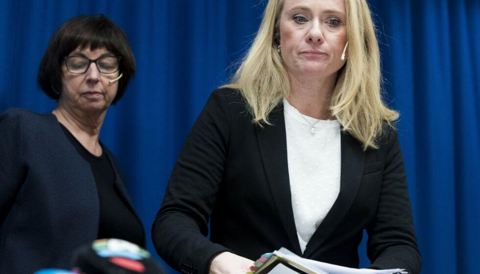 BEKLAGER: Arbeidsminister Anniken Hauglie beklager at brevet fra Nav ble liggende i en skuff. Foto: Terje Pedersen / NTB scanpix