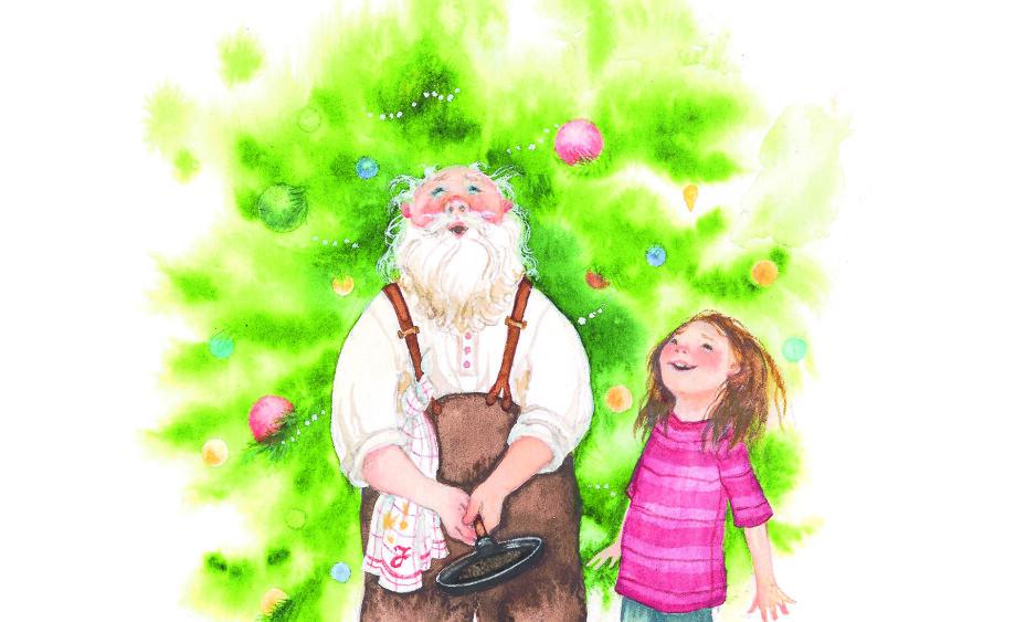 HAR ALT: «Snøfall» er en moderne juleklassiker som både voksne og barn kan ta frem, år etter år. Illustrasjon fra boka