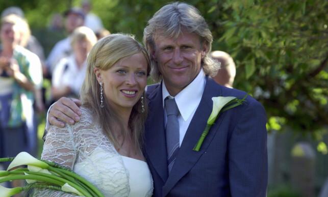 FLYTTER: Bjørn Borg og Patricia giftet seg i 2002 utenfor Stockholm. Nå flytter de utenlands. Foto: NTB Scanpix