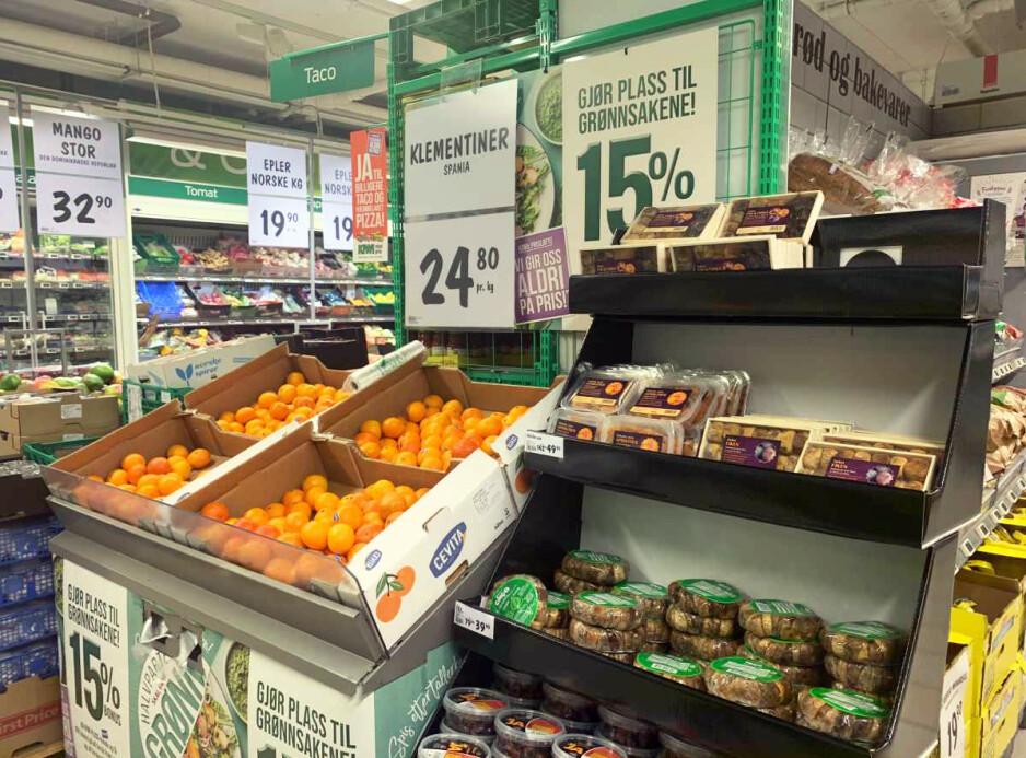 KUTTER PRISENE: Kiwi har kuttet prisene på en rekke julevarer med opptil 32 prosent - og de andre kjedene justerer tilsvarende. Foto: Elisabeth Dalseg
