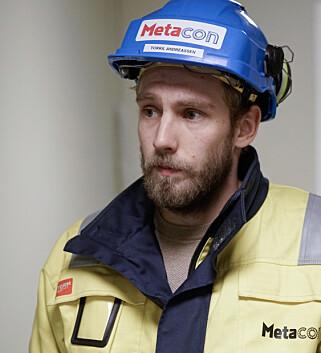 HALV MILLION: Prosjektleder Torkil Andreassen tror innbruddstyvene kom seg unna med verktøy og utstyr for en halv million kroner. Foto: Øistein Norum Monsen / Dagbladet.
