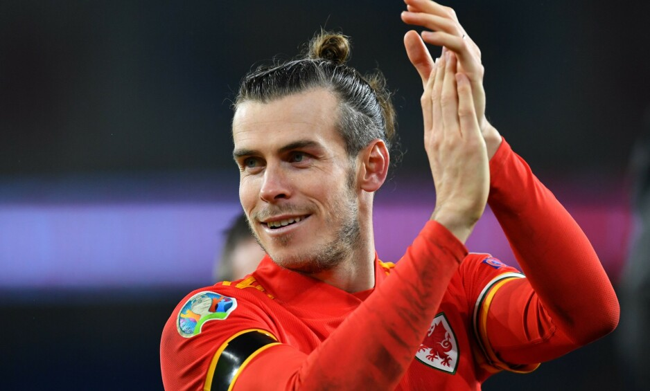TRIVES BEST HJEMME: Gareth Bale har vært ærlig om at han foretrekker å spille for Wales framfor Real Madrid. Foto: Paul Ellis / AFP / NTB Scanpix
