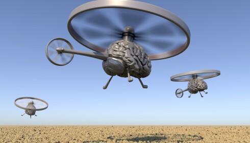 DRAPSROBOTER: Teknologien gjør at droner og andre potensielle våpensystem kan gjøre stadig mer på egen hånd. Derfor ønsker en rekke forskere og politikere et forbud. For hva skjer den dagen en drone kan velge seg ut mål og drepe, helt på egen hånd? Foto: Science Photo Library