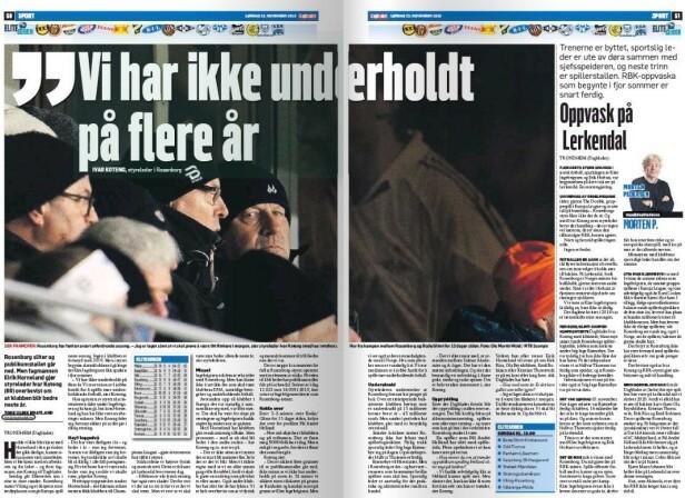 FAKSIMILE: Dagbladets papiravis lørdag.