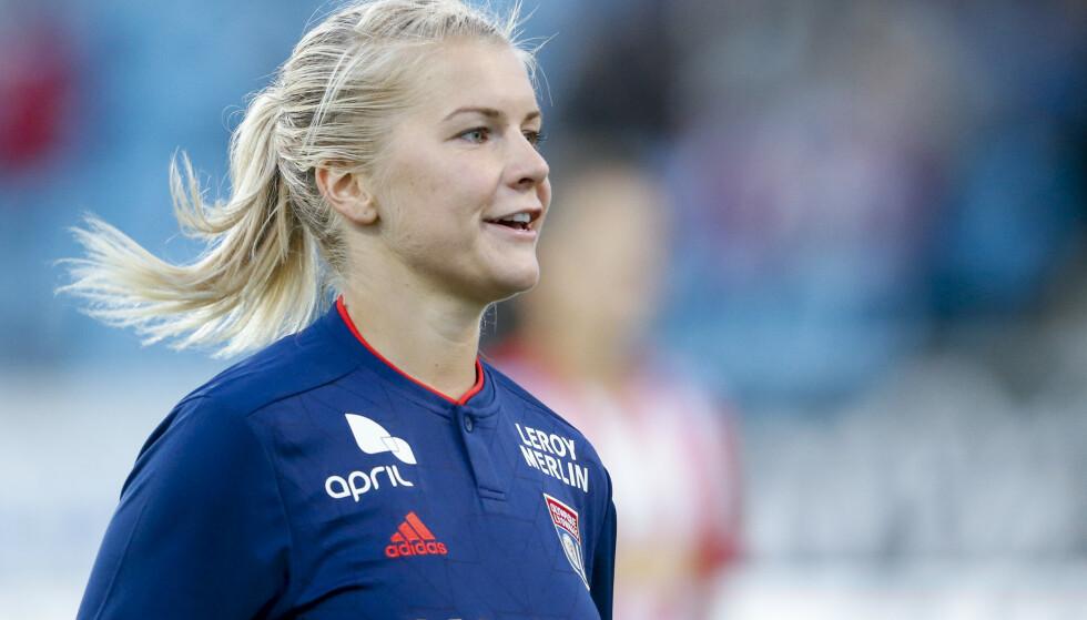 SCORET IGJEN: Ada Hegerberg scoret to mål for Lyon da de slo Soyaux. Foto: Jan Kåre Ness / NTB scanpix