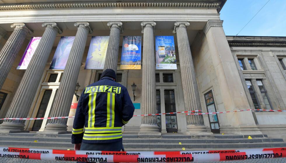 RYSTET: Dresden er rystet etter brekket mandag. Foto: REUTERS/Matthias Rietschel