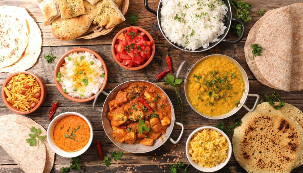 INDISKE RETTER: Professor Tom Nichols provoserte mange da han uttalte at «indisk mat» er forferdelig. Foto: Shutterstock / NTB Scanpix