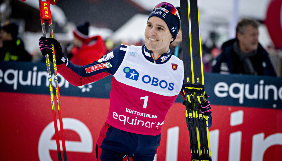 SUPERSLAG: Didrik Tønseth har vist glimrende takter både med løpesko og ski under beina de siste månedene - her etter seieren på Beitostølen forrige helg. Foto: Bjørn Langsem / Dagbladet