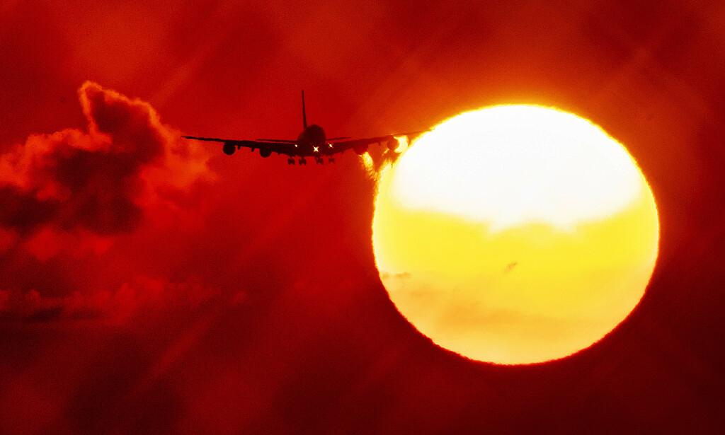 NYTT KLIMAVARSEL: Forskere varsler av avskoging også i nord kan verre klimasituasjonen drastisk. Et fly over Frankfurt i Tyskland. Foto: Michael Probst, AP/NTB Scanpix.