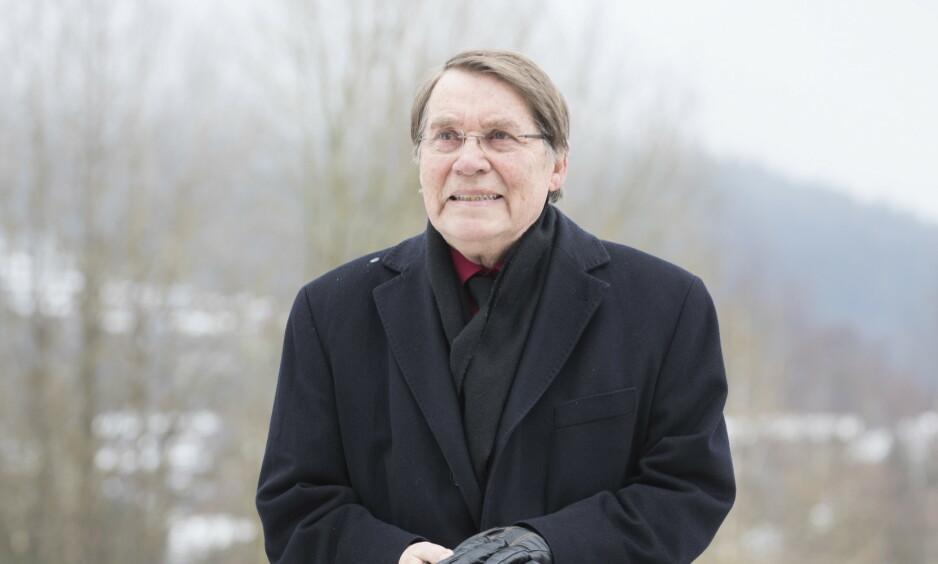 SIKTET: Gunnar Stålsett (84) er siktet for å ha gitt arbeid til en ureturnerbar asylsøker i 14 år. Foto: Håkon Mosvold Larsen / NTB Scanpix