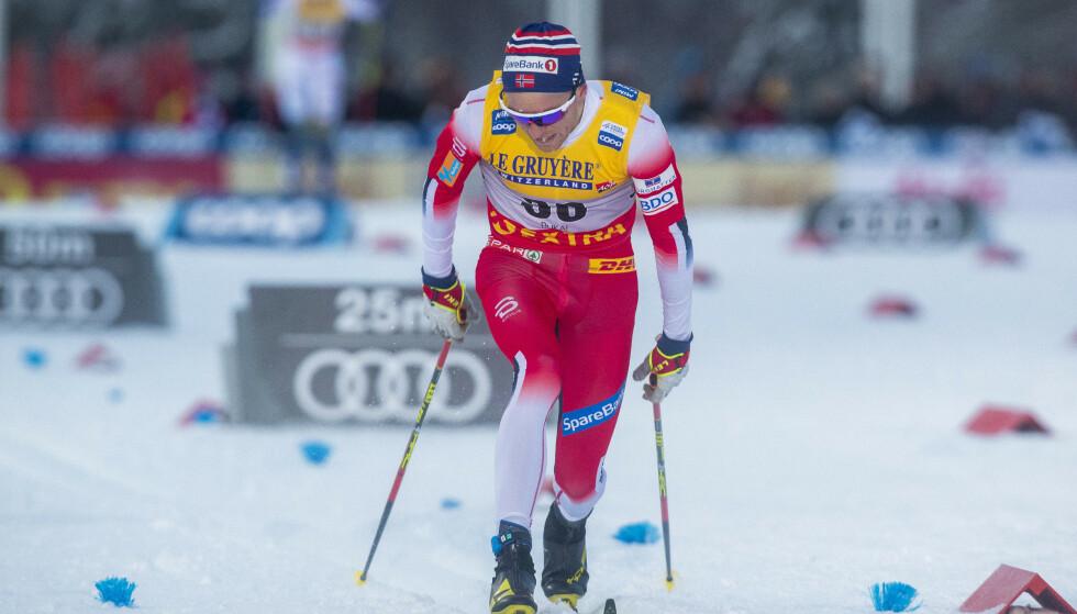 VIL LØPE OGSÅ: Didrik Tønseth ble nummer fire på lørdagens 15 km i Ruka, og vil aller helst stå over verdenscupen neste helg til fordel for EM i terrengløp. Foto: Terje Pedersen / NTB Scanpix