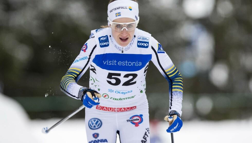 GIKK PÅ EN SMELL: Ebba Anderson legger ikke skjul på at det var tungt å få skadebeskjeden. Foto: NTB/Scanpix