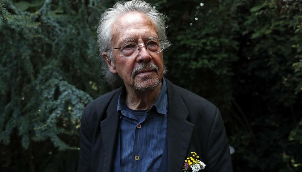 KONTROVERSIELL: Nobelprisvinner i litteratur Peter Handke. Foto: AP / NTB scanpix