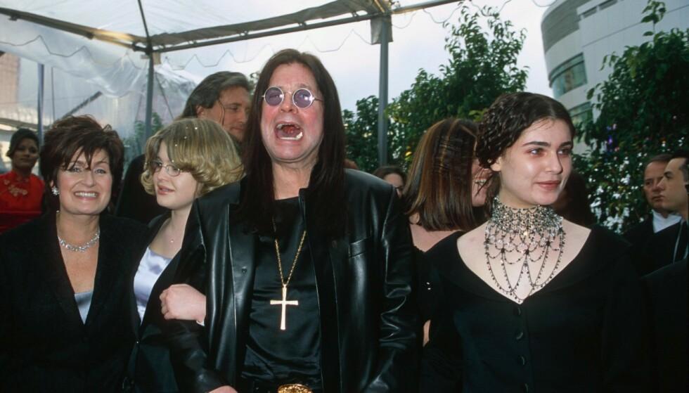VERDENSKJENT: Osbourne-familien gjorde det stort som TV-stjerner i realityserien «The Osbournes». Foto: NTB Scanpix