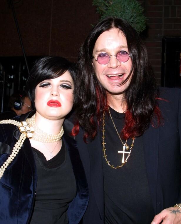 FAR OG DATTER: Både Ozzy og datteren Kelly Osbourne har slitt med rus. Foto: NTB Scanpix