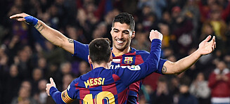 Eventyrlig Suárez-scoring og Messi-hattrick