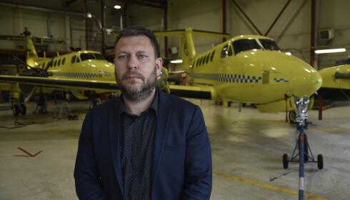 KRITISK: Administrerende direktør i Lufttransport AS, Frank Wilhelmsen. Foto: Rune Stoltz Bertinussen / NTB scanpix