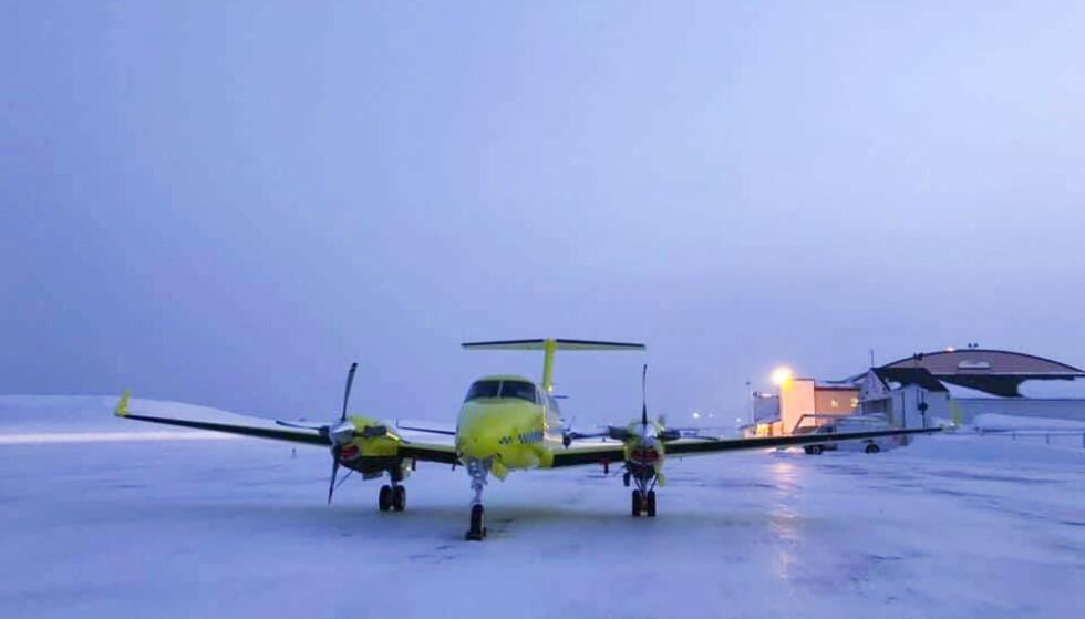 BABCOCK: Fem av de nye Beech B250 ambulanseflyene til Babcock tas ut av tjeneste etter tekniske uregelmessigheter. Med seks operative fly betyr det at tjenesten nesten halveres. Foto: BSAA / NTB scanpix
