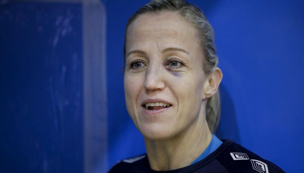 FIKK JULING: Heidi Løke fikk en skikkelig smell mot Danmark i VM. Foto: Vidar Ruud / NTB scanpix
