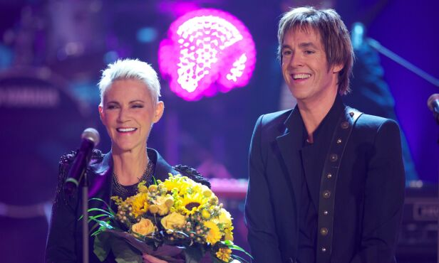 I SORG: Marie Fredriksson og Per Gessle i 2011. Gessle takker sin avdøde kollega for alt hun har gjort. Foto: NTB Scanpix