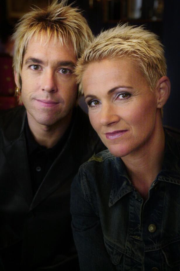 STJERNEDUO: Per Gessle og Marie Fredriksson toppet lister verden over med sin følsomme pop. Her er de fotografert i Oslo i 2001. Foto: Erlend Aas / NTB scanpix