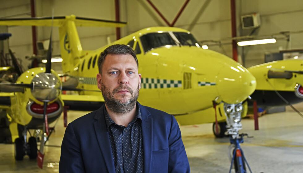 Kan løse krisen? Aministrerende direktør i Lufttransport Frank Wilhelmsen bekrefter at de er spurt om å bidra med fly for å løse krisen i nord. Foto: Rune Stoltz Bertinussen / NTB scanpix