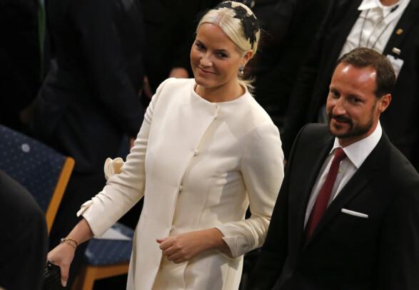 2014: Slik så kronprinsessen ut i 2014 - i den samme kjolen. Foto: NTB Scanpix