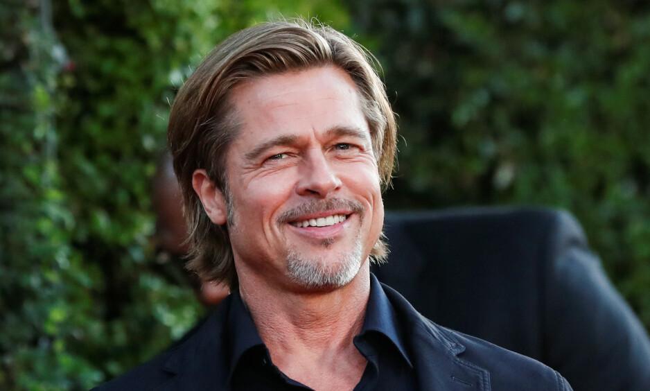 UT MOT RYKTER: Brad Pitt avviser romanseryktene som svirrer rundt ham. Foto: Reuters/NTB scanpix