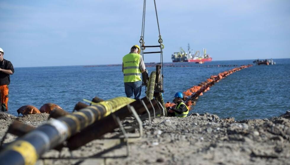 - SKJER IKKE: Arbeiderpartiet avviser at NorthConnect kan bygges med utgangspunkt i NVEs rapport. Foto: Statnett
