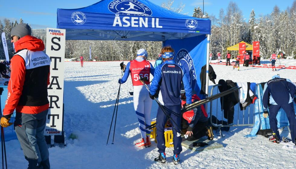 Stedet: Åsen stadion på Røtterudmoen - den aktuelle skistadion hvor prøvene til forskningen er tatt. Foto: Martin Schlabach, NILU.