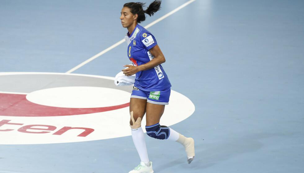 SJUENDEPLASS: Jamina Roberts er glad for Sveriges sjuendeplass i håndball-VM Foto: Vidar Ruud / NTB scanpix