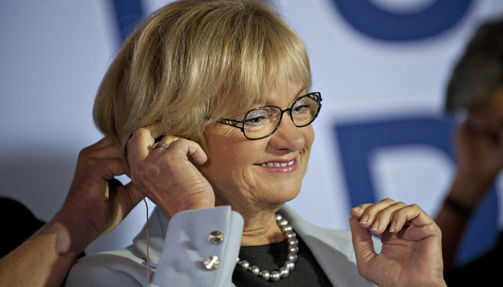 OPPFINNER: Det var den tidligere lederen for Dansk Folkeparti Pia Kjærsgaard, som fant opp årets ord i Danmark. Foto. AFP