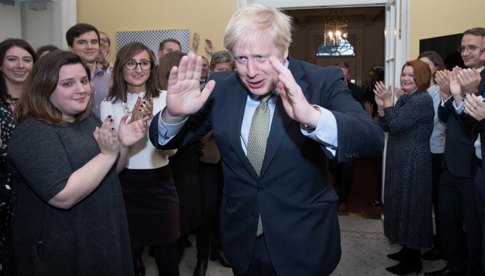 VALGVINNER: Statsminister Boris Johnson sitter trygt og kan gjennomføre bruddet med EU, men det vanskeligste gjenstår. Foto: NTB Scanpix/ Reuters