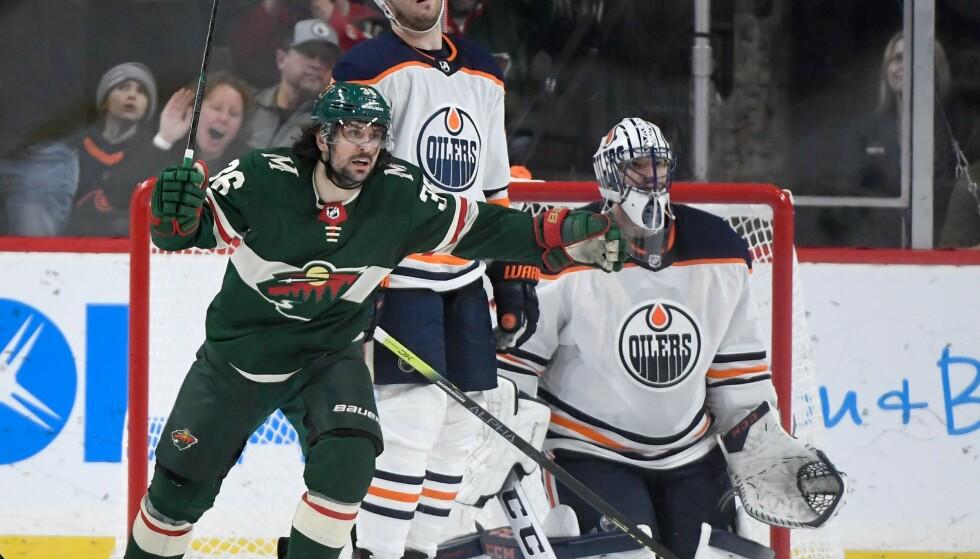VANT: Mats Zuccarello og Minnesota Wild vant mot Philadelphia Flyers lørdag. Foto: Hannah Foslien/Getty Images/AFP