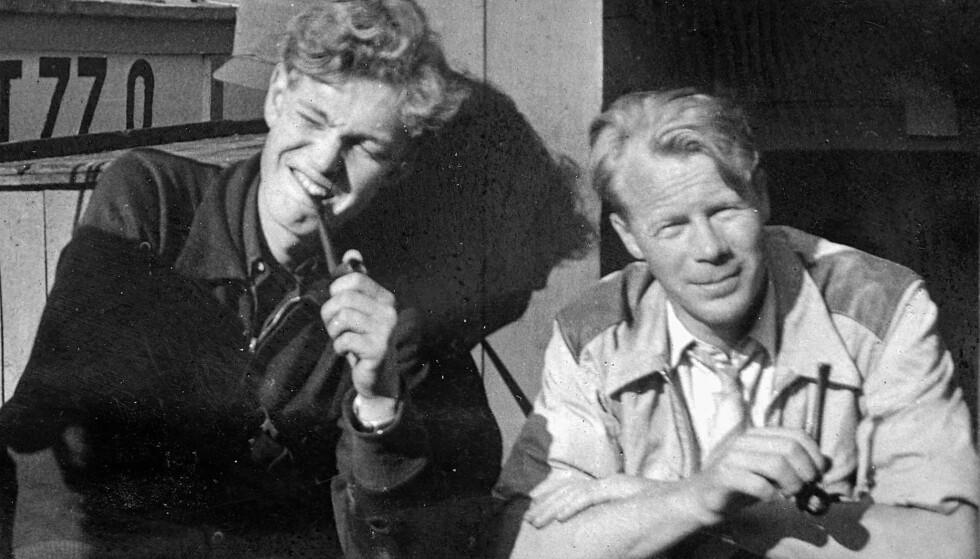HVEM VAR HAN, EGENTLIG? Svenske Claes Bertil Warholm (til venstre) fotografert i 1941 sammen med en norsk kamerat. Foto: Fra boka med tillatelse