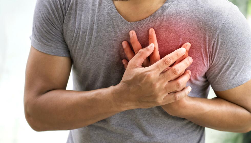 UTSATT: Forskning avslører hva som gjør deg mest utsatt for hjerteinfarkt - og det er mye du kan gjøre for å forhindre dette. Foto: NTBScanpix