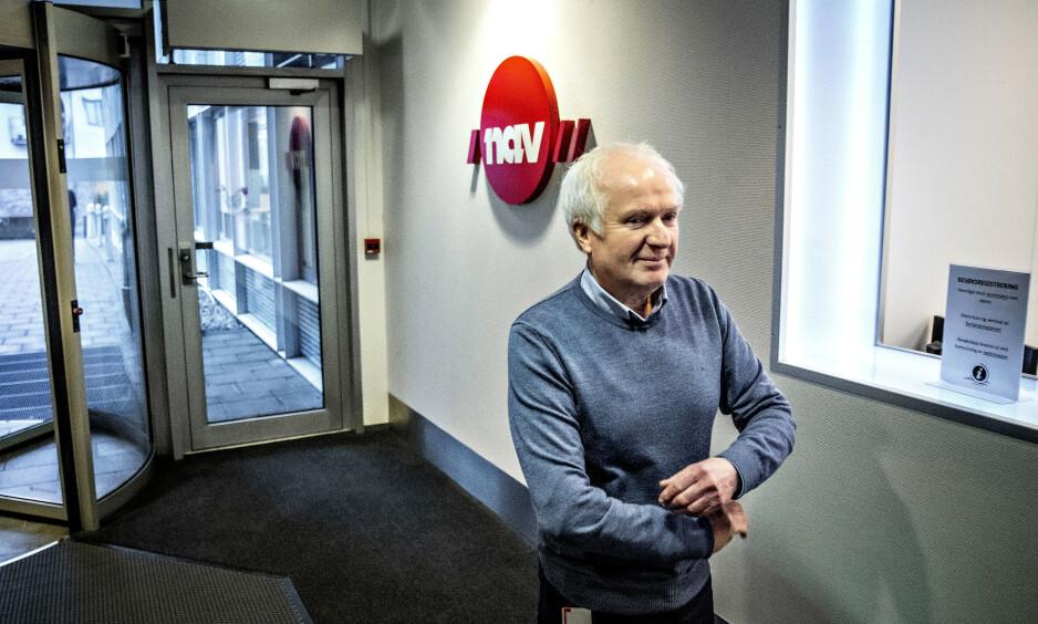 «SVINDELJEGER» BLE RYDDEGUTT: Seksjonssjef Magne Fladby i Nav frontet i en årrekke saker om utenlandssvindel i media. Nå leder han oppryddingen i Navs uriktige anklager om utenlandssvindel. Også folk fra utenlandsgruppen, Navs spydspiss mot utenlandssvindel, deltar i oppryddingen. Foto: Bjørn Langsem / Dagbladet