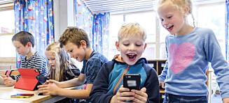 Lær barna hvordan de skal bruke mobilen