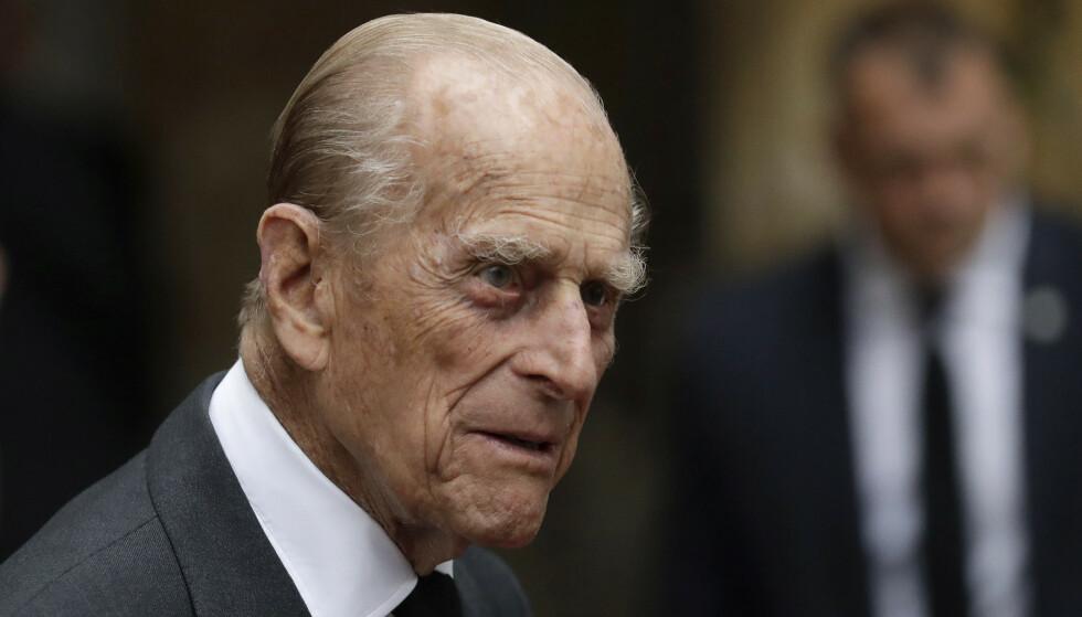 PÅ SYKEHUS: Prins Philip ble fredag fraktet til sykehus i London. Foto: NTB Scanpix