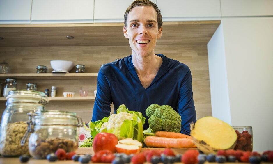 LETTER PÅ TRYKKET: Ifølge ernæringsekspert Erik Arnesen kan dette kostholdet gjøre underverker for helsa - også blodtrykket. Foto: Endre Vellene