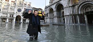 Vannet dekker 60 prosent av sentrum
