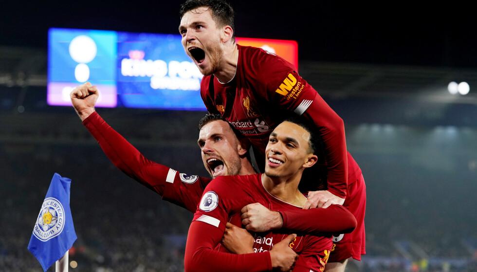 HERJET: Liverpools Trent Alexander-Arnold var kampen store spiller med ett mål og to målgivende. Foto: NTB Scanpix