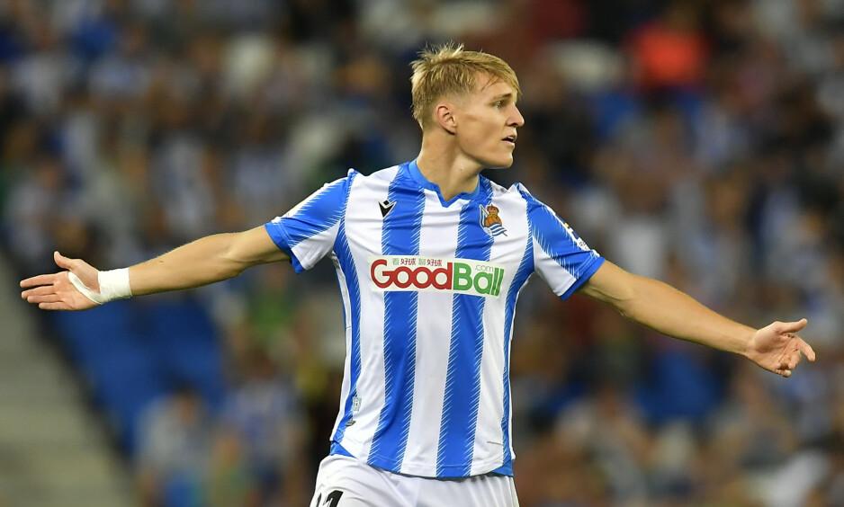 IMPONERER: Martin Ødegaard står med fire mål og fem målgivende på 16 kamper for Real Sociedad. Foto: Alvaro Barrientos / AP Photo / NTB Scanpix