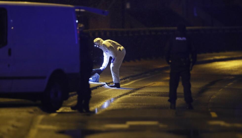 DRAPSSAK: En 74 år gammel mann ble lille julaften funnet skadet i Hokksund, og ble erklært død en knapp time etter å ha blitt funnet. En 59-åring er siktet for å ha drept mannen. Foto: NTB Scanpix